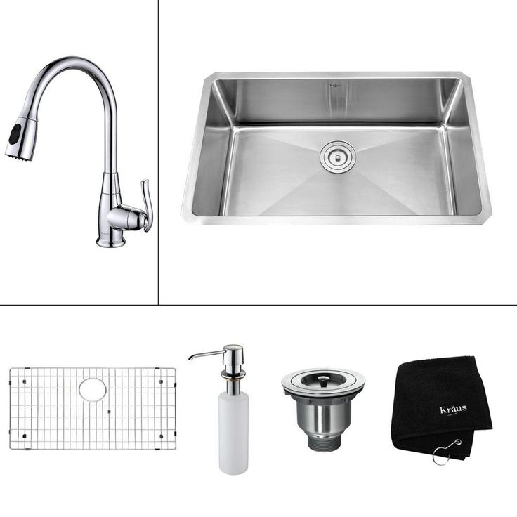 Kraus Kitchen Combo 19 In X 32 In Stainless Steel Single Basin