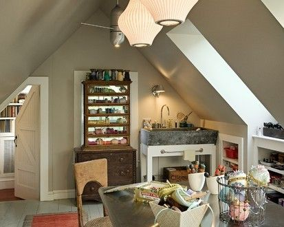 Great Use For The Upper Floor Of A Garage, Traditional Home Office