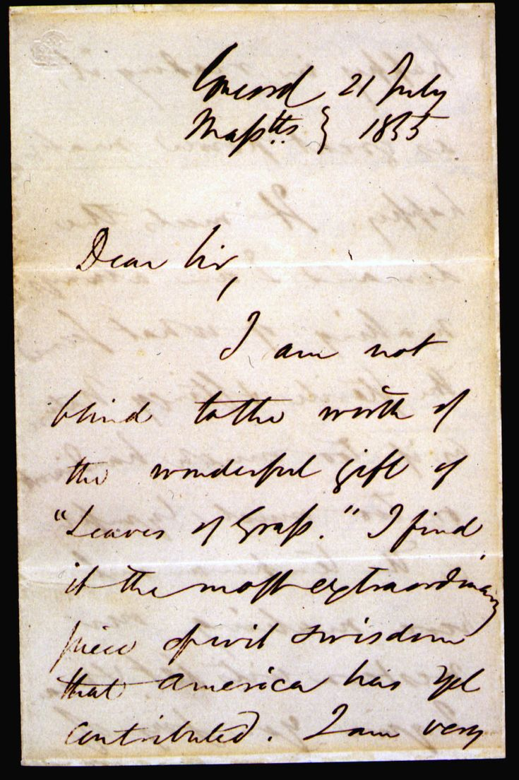ralph waldo emerson vs walt whitman In 1863, as he considered seeking a government clerkship, walt whitman asked his friend and advocate ralph waldo emerson for a letter of recommendation.