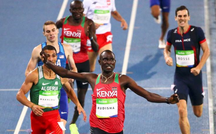 Olympics 2016: David Rudisha defends his title to win gold in men's 800m run:    August 16, 2016  -     David Lekuta Rudisha of Kenya wins the final.