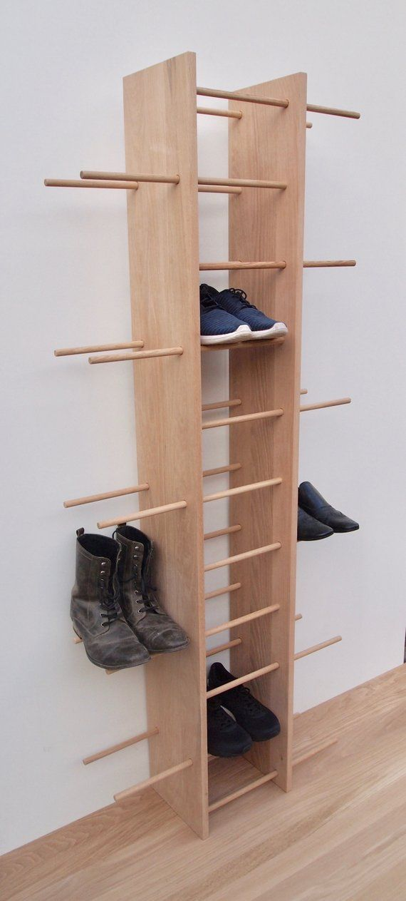Familienschuh Rack Schuhregal Holz Schuhschrank Schuhbank Etsy Wooden Shoe Racks Shoe Rack Shoe Shelf