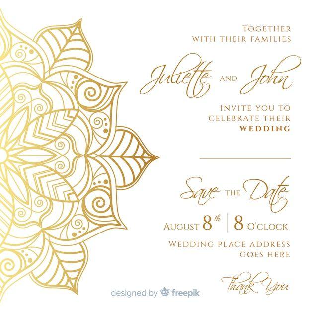 Elegant Wedding Invitation Card Template Free Vector Freepik F Elegant Wedding Invitation Card Elegant Wedding Invitations Wedding Invitation Card Template