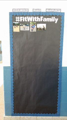 Encourage Your Students to Exercise With Their Family by Using This #FitWithFamily Door Board!