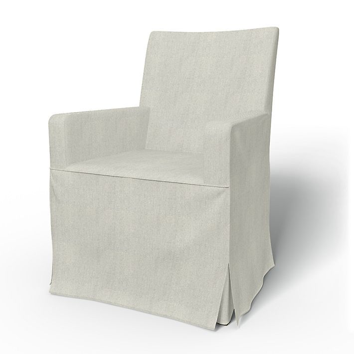 Henriksdal Chair Covers Chair With Arms Regular Fit Long Skirt With Box Pleats Using The Fabric Brinken Herr Chair Accent Chairs For Living Room Chair Cover
