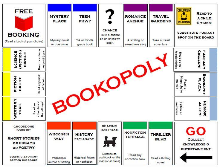 book opoly - Google Search