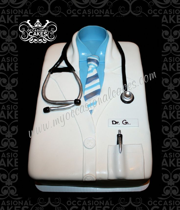 Lab coat retirement cake for a doctor. Occasional Cakes ...