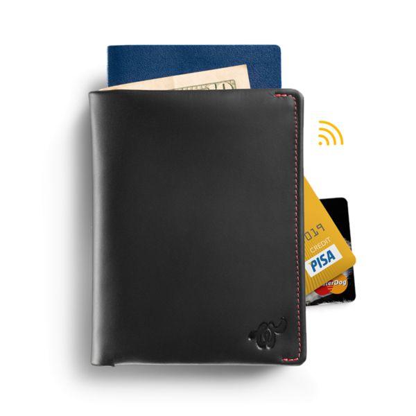 Woolet Travel XL Black - slim, smart wallet