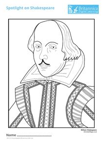 shakespeare coloring pages - photo#25