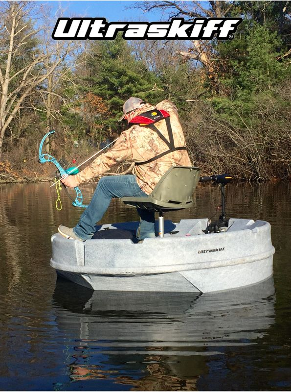 Pictures Gallery, Ultraskiff 360, Round Boat, Round Watercraft, Round Skiff…  The Ultraskiff is great for bow fishermen! The Round design allows for a 360 degree vantage point at all times so you never loose your target . #bowfishing #roundboat #ultraskiff