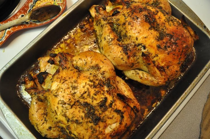 roasted whole herb chicken | Favorite Recipes | Pinterest