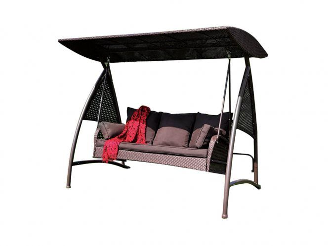 Rattan Sofa Outdoor Patio Swing With Canopy