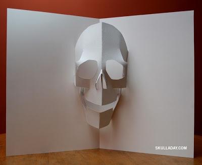Pop Up Skull - Template pdf