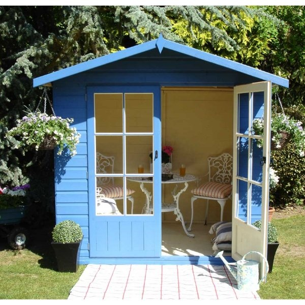 Shire lumley summerhouse 7x7 shiplap summer house for Garden shed 7x7