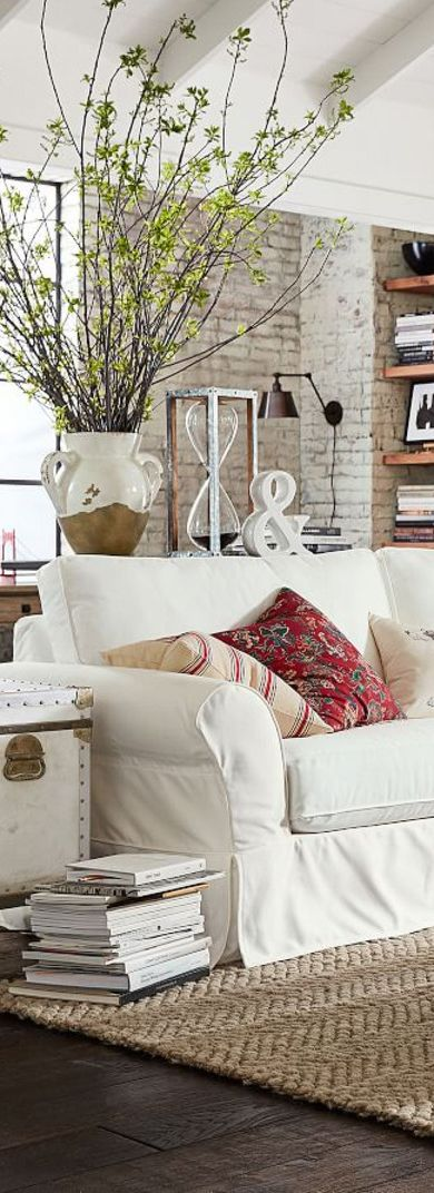 Rustic Decorating Ideas | Industrial Farmhouse Design with pops of red