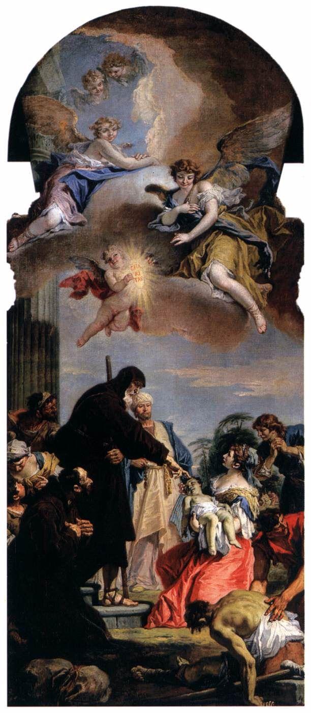 Ο Άγιος Φραγκίσκος και νεκρό παιδί (1733)  Εκκλησία Σαν Ρόκο στη Βενετία