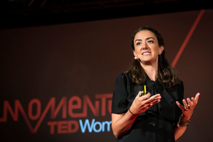 """Courtney E. Martin hosts a special session called """"The 19th Minute,"""" and gives valuable insight on how to give a talk that has real impact. Photo: Marla Aufmuth/TED"""