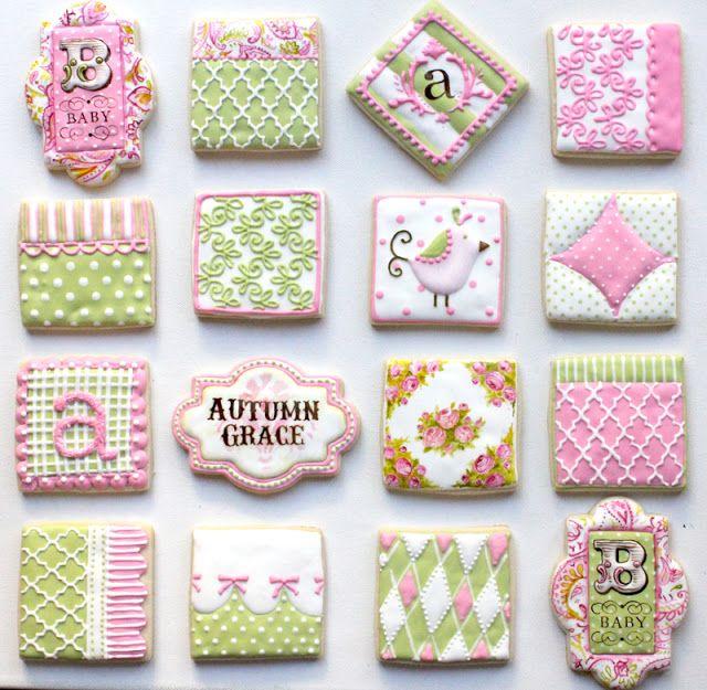 Pink and green cookies via Arty McGoo