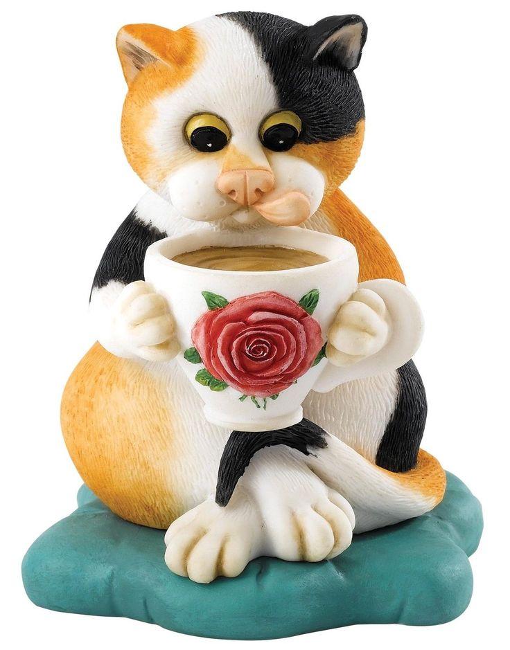 Linda Smith Comic Neugierig Katze Cats Heim Figur Deko Figur 12cm A27186 | eBay
