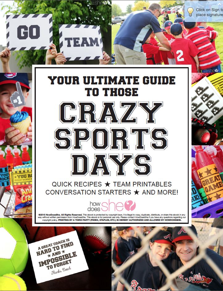 Your Ultimate Guide to Those Crazy Sports Days. Need quick recipes? Team printables? Look no further!