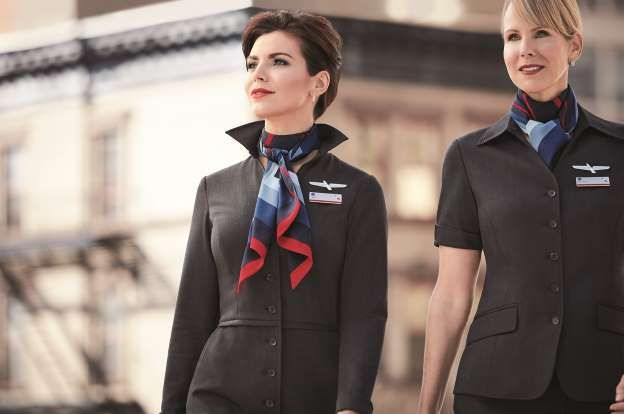 AA attendants want 'full recall' of new uniforms. American Airlines' flights attendants will get new uniforms in this design.