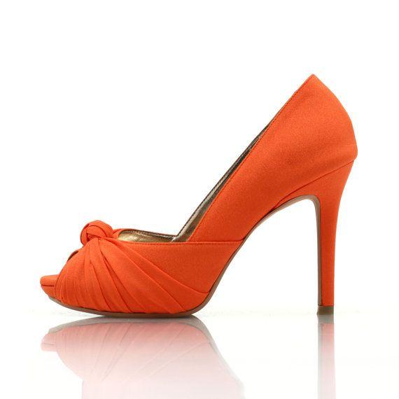 Custom Made Wedding Heels Orange Wedding Heels by ChristyNgShoes