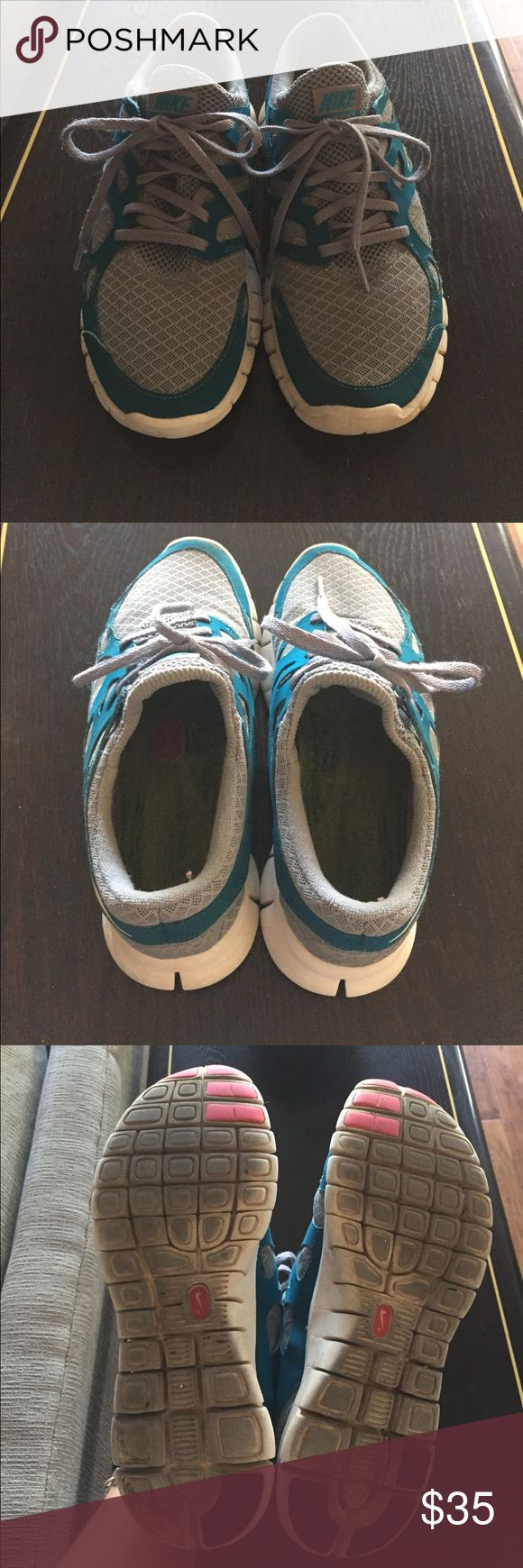 Size 8 Nike Free Run 2 Well worn, but in great condition. Removable inserts. Connects to Nike+ Run club with a sensor on the shoe. Size 8 runs true to size. Nike Shoes Athletic Shoes