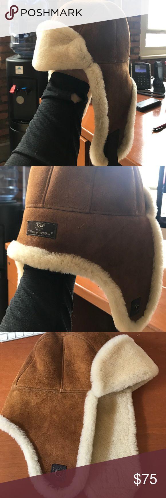 Ugg Australia Sheepskin Trapper Hat - L/XL Slightly used men's ugg Australia sheepskin trapper hat - chestnut - l/xl UGG Other