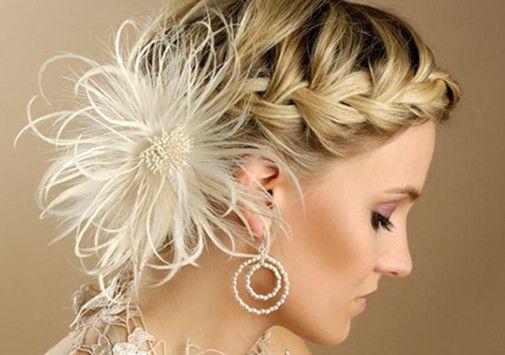 bridesmaid braid for medium hair | Wedding Hairstyles For Medium Length Hair With Braidswedding ...