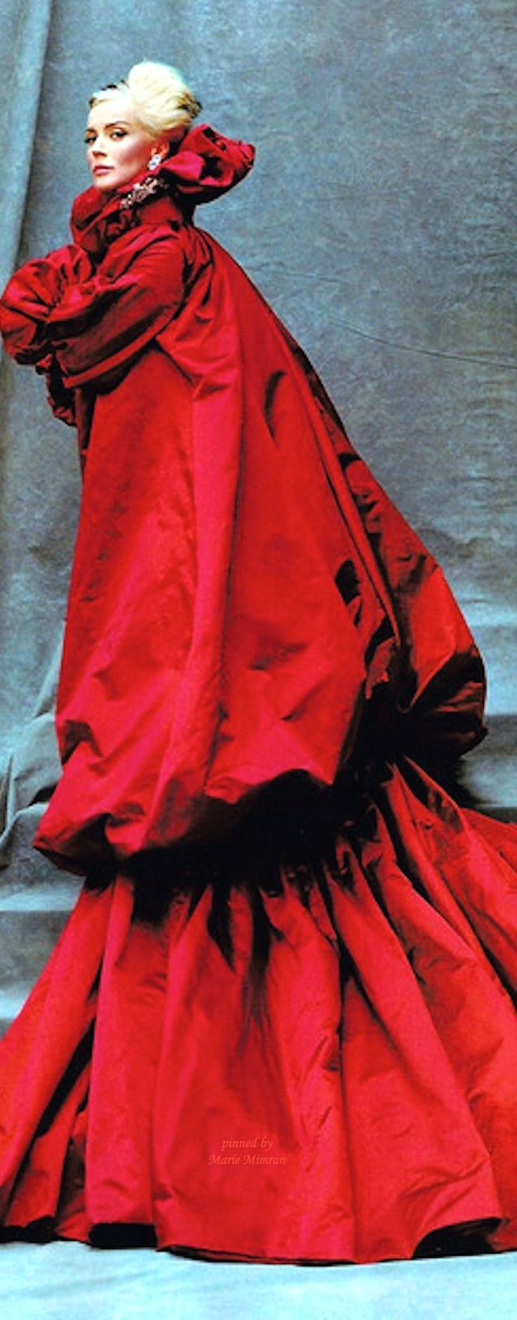 Daphne Guiness in Alexander McQueen by Michael Roberts. Inspiration for Aunt Venetia in Model Under Cover. http://www.carinaaxelsson.com