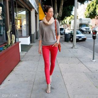Love this casual looK!Colored Pants, Colors Pants, Jeans Grey, Colors Jeans, Jean Gray, Casual Looks, Affordable Fashion, Women Jeans, Colored Jeans