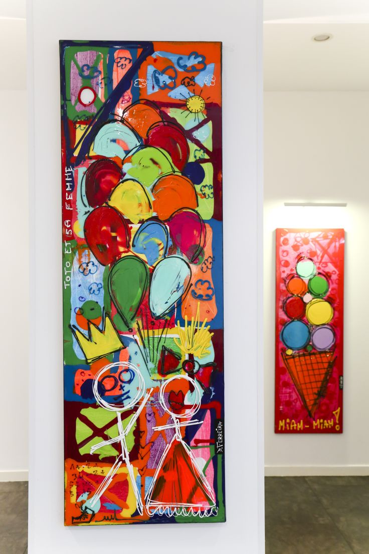 Sensations. Hôtel Marceau Bastille. David Ferreira - Toto et sa Femme s'éclatent, 50 x 150 cm - technique mixte sur toile