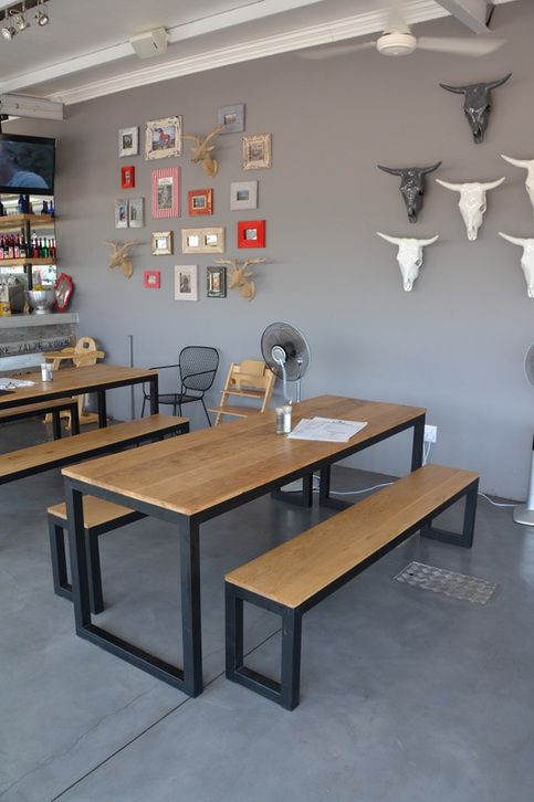 Beautiful Cemcrete cement-based Colour Hardener floor as seen at The Thirsty Scarecrow, Stellenbosch