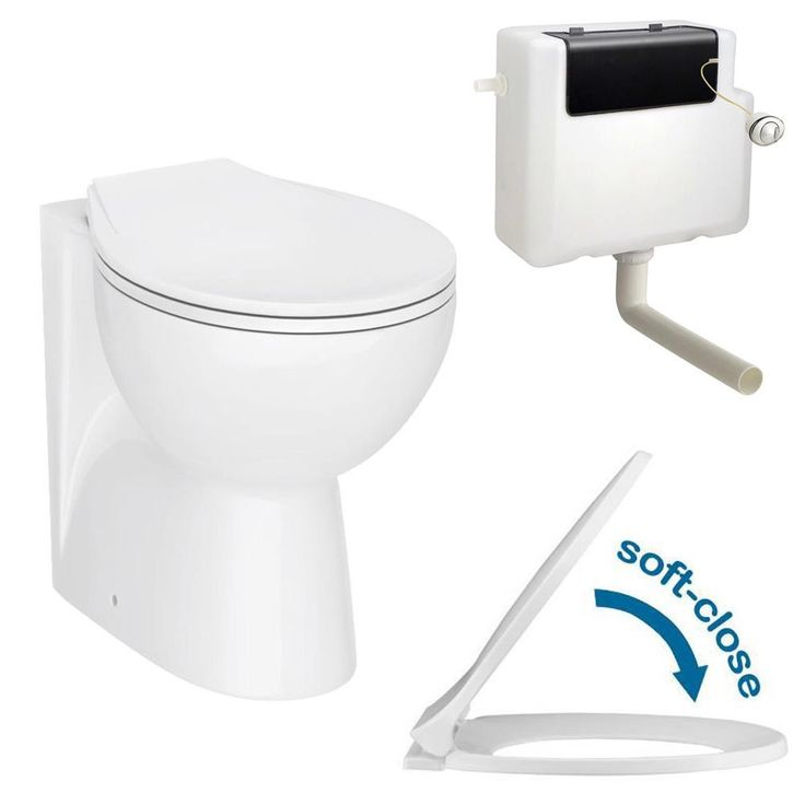 Browse the Ceramic BTW Toilet Pan with Soft-Close Seat & Dual Flush Concealed Cistern. Now in stock and available online from Victorian Plumbing.co.uk.