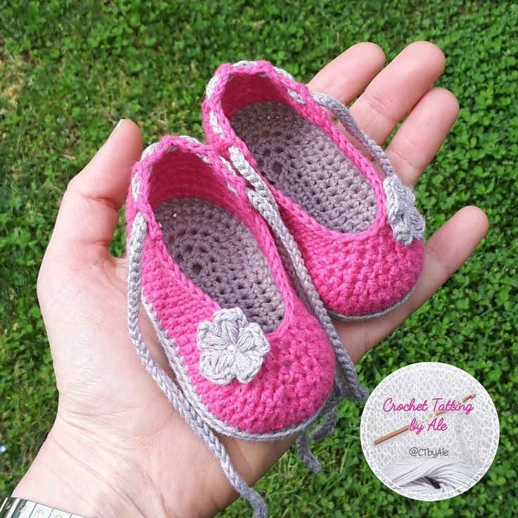 Scarpine a uncinetto, ballerine per neonata, babbucce primavera estate : Moda bebè di crochettattingbyale