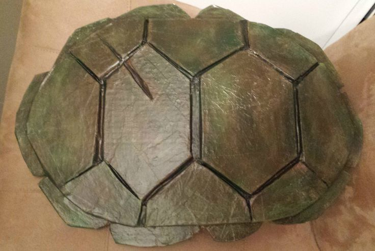 how to diy homemade TMNT realistic shell for halloween costume