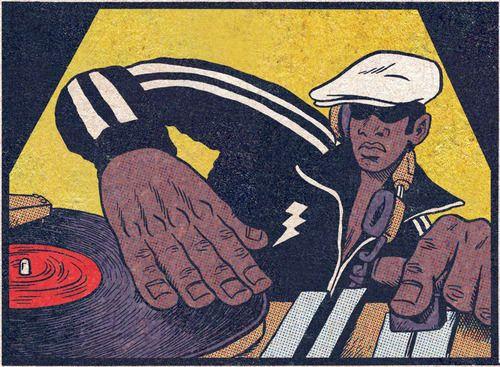Grandmaster Flash. On the wheels of steel. #music #dj #djculture http://www.pinterest.com/TheHitman14/musician-drawn-%2B/