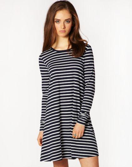 Short, Long Sleeved Swing Dress, Buy Online