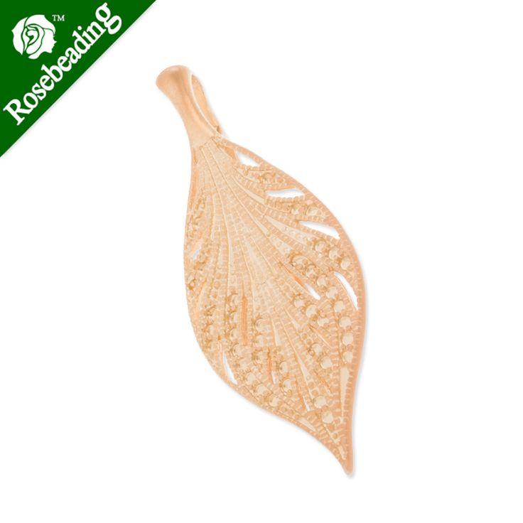 2014 новый, 16*41 ММ, Лист, Матовое Золото, подвески для ожерелье/браслет, продаются 10 шт./уп