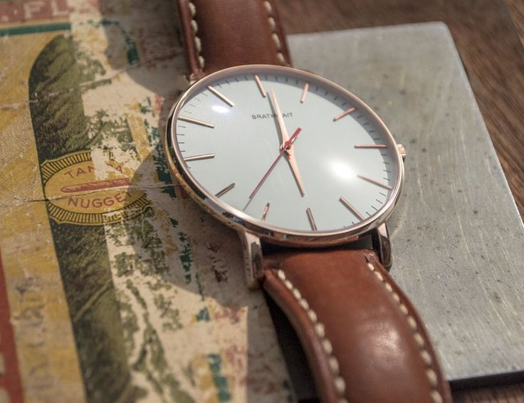 Add some simple elegance to your wardrobe with the Classic Slim Brown #Leather #Watch by Brathwait.