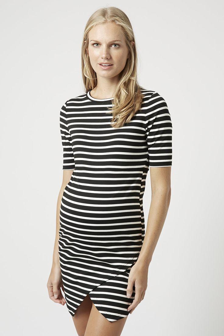 0f6c5c098e MATERNITY Stripe Asymmetric Bodycon Dress - Maternity - Clothing