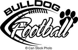 bulldog football - black and white bulldog football team...