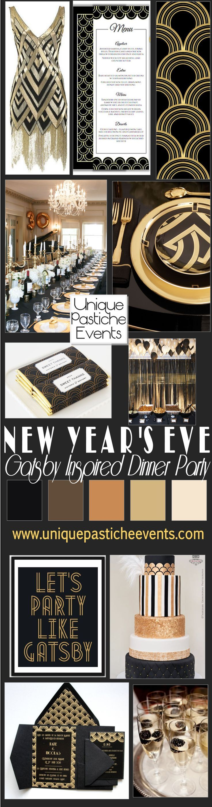 Gatsby Inspired New Year's Eve Dinner Party Ideas