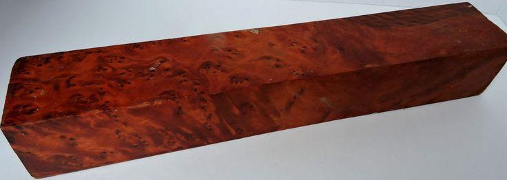 Thuya Burl Lathe Turning Spindle Blank WoodworkingKnife Handle Reel Seats Lumber #Unbranded