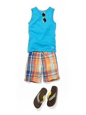 Don't forget to check out Gap for great spring break clothes! We love this beach outfit for your boy!