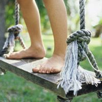 How to Install a Tree Swing Safely. Wonderful information on different kinds of rope to use for a swing.