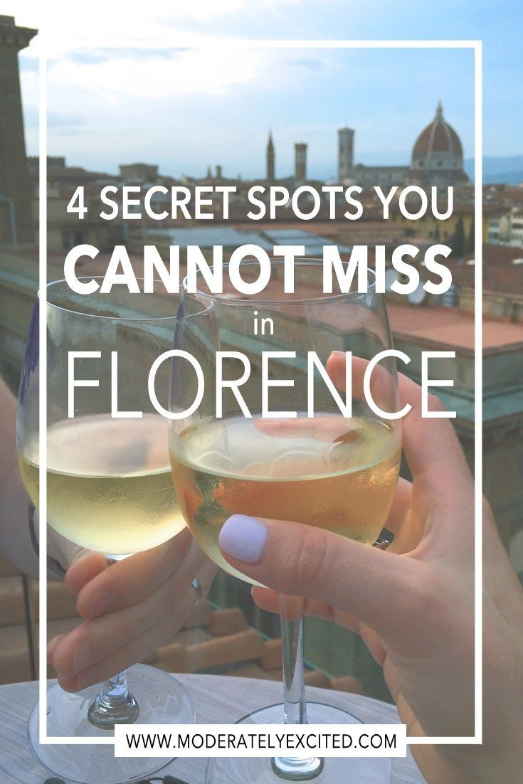 4 Secret Spots You Cannot Miss in Florence Italy, including secret rooftop bars, late-night hidden bakeries and more!