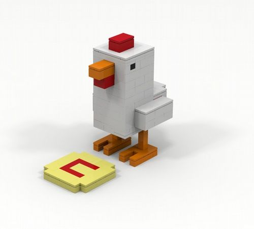 Crossy Road project: Chicken: A LEGO® creation by Navy Person : MOCpages.com