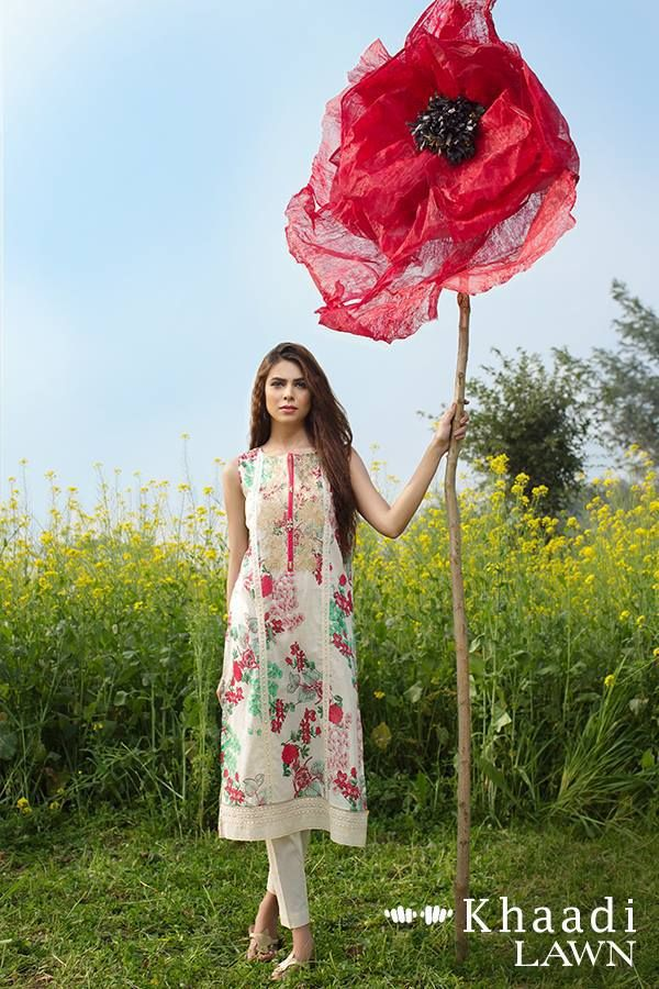 Khaadi lawn unstiched wet on wet paint collection