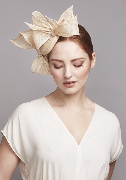 8dc9f75101909 Rachel Trevor Morgan. Natural straw pillbox with bows