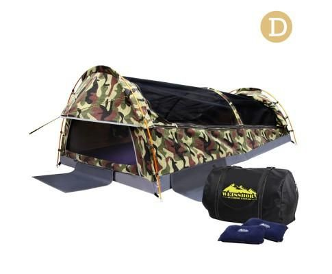 Double Camping Canvas Swag Tent - Cammo     *FREE Shipping in Aus